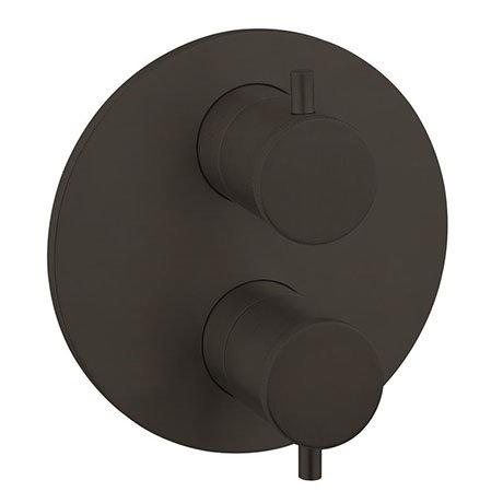 Crosswater MPRO Industrial Carbon Black 1 Outlet Trim Set