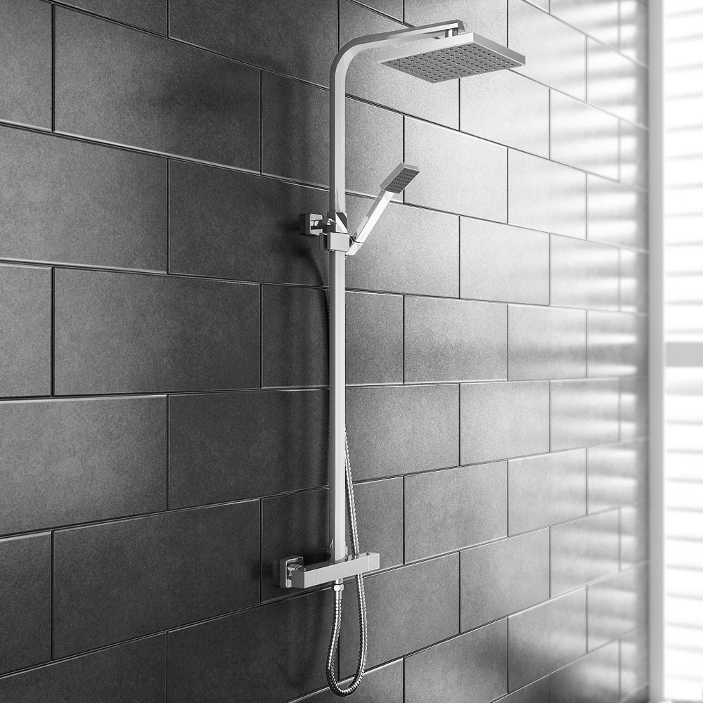Prime Luxury Square Thermostatic Shower - Chrome