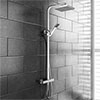 Prime Luxury Square Thermostatic Shower - Chrome profile small image view 1