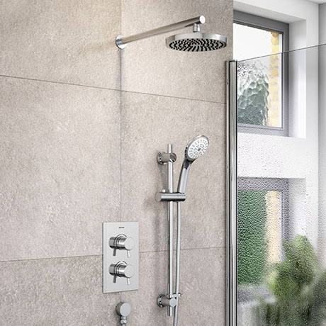 Bristan Prism Fixed Head and Adjustable Riser Shower Pack