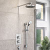 Bristan Prism Fixed Head and Adjustable Riser Shower Pack profile small image view 1