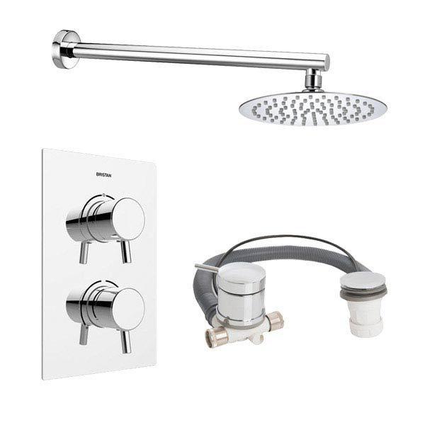 Bristan Prism Recessed Dual Control Shower Pack profile large image view 1