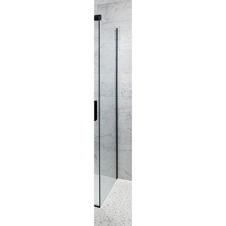 Crosswater Design+ Matt Black Side Panel for Sliding Door