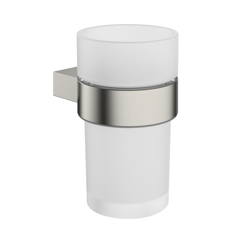 Crosswater - Mike Pro Tumbler Holder - Brushed Stainless Steel - PRO003V Large Image