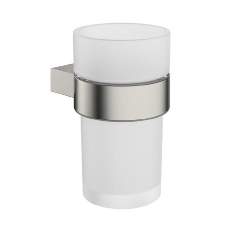 Crosswater - Mike Pro Tumbler Holder - Brushed Stainless Steel - PRO003V