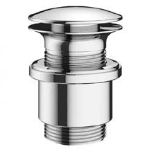 Crosswater MPRO Unslotted Click Clack Basin Waste - Chrome - PRO0101C