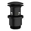 Crosswater MPRO Slotted Click Clack Basin Waste - Matt Black - PRO0103M profile small image view 1