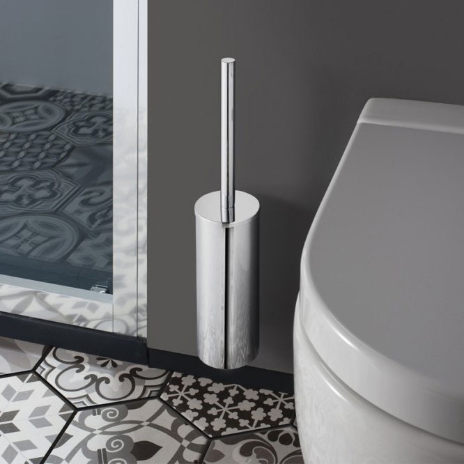 Crosswater - Mike Pro Toilet Brush Holder - Brushed Stainless Steel - PRO025V profile large image view 2