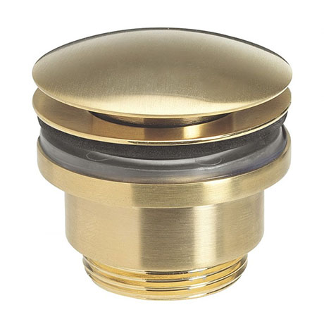 Crosswater MPRO Universal Basin Click Clack Waste - Brushed Brass - PRO0260F+