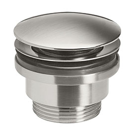 Crosswater MPRO Universal Basin Click Clack Waste - Brushed Stainless Steel Effect - PRO0260V+