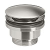 Crosswater MPRO Universal Basin Click Clack Waste - Brushed Stainless Steel Effect - PRO0260V+ profile small image view 1
