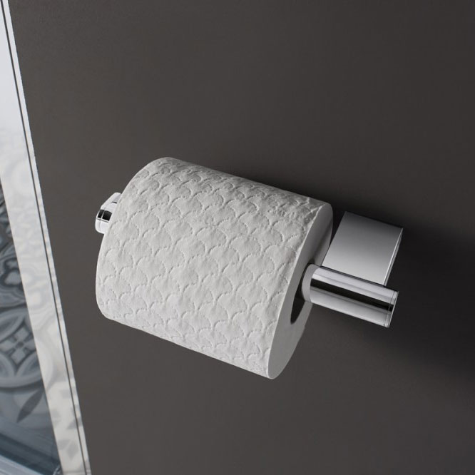 Crosswater - Mike Pro Toilet Roll Holder - Brushed Stainless Steel - PRO029V profile large image view 2