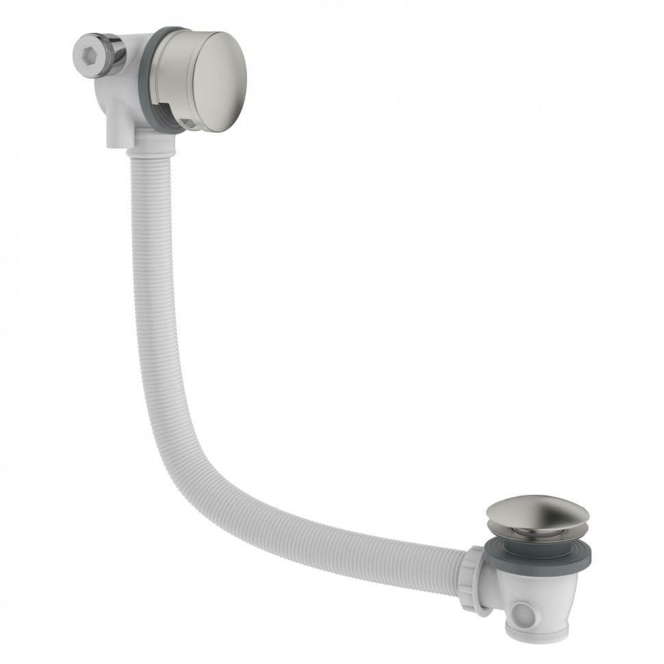 Crosswater - Mike Pro Bath Filler with Click Clack Waste - Brushed Stainless Steel - PRO0355V profile large image view 1