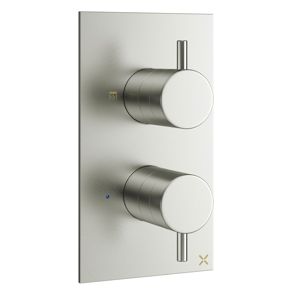 Crosswater - Mike Pro Thermostatic Shower Valve - Brushed Stainless Steel - PRO1000RV Large Image