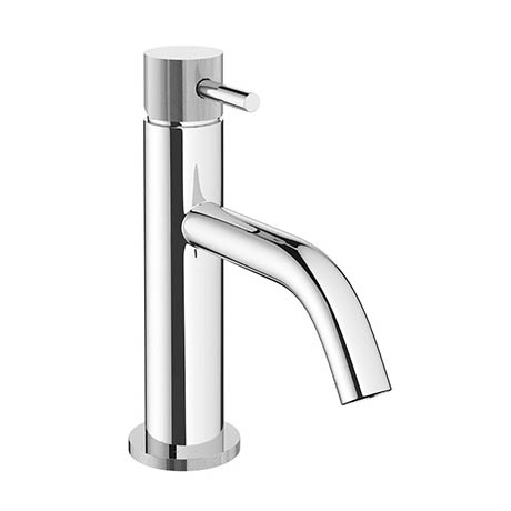 Crosswater MPRO Monobloc Basin Mixer with Knurled Detailing - Chrome - PRO110DNC_K