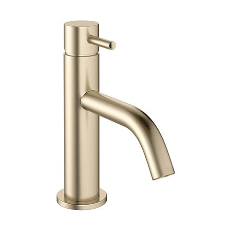 Crosswater MPRO Monobloc Basin Mixer - Brushed Brass - PRO110DNF