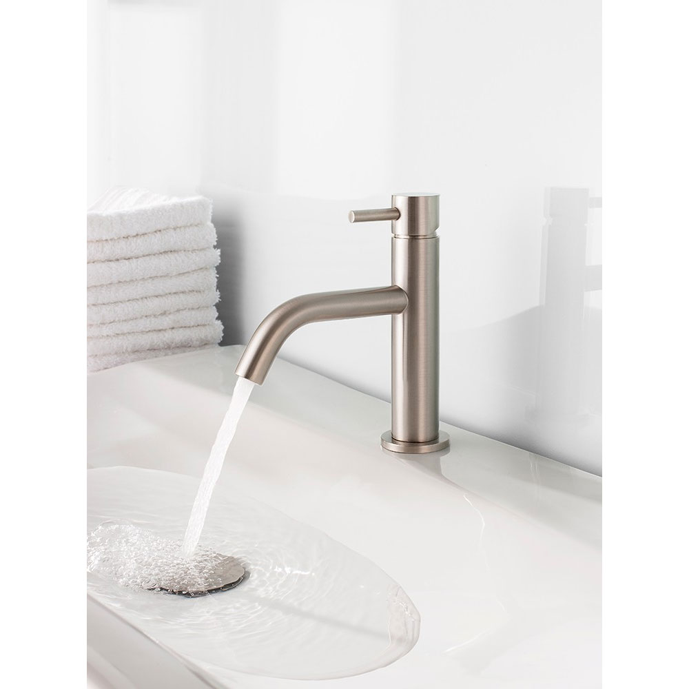 Crosswater - Mike Pro Monobloc Basin Mixer - Brushed Stainless Steel - PRO110DNV Profile Large Image