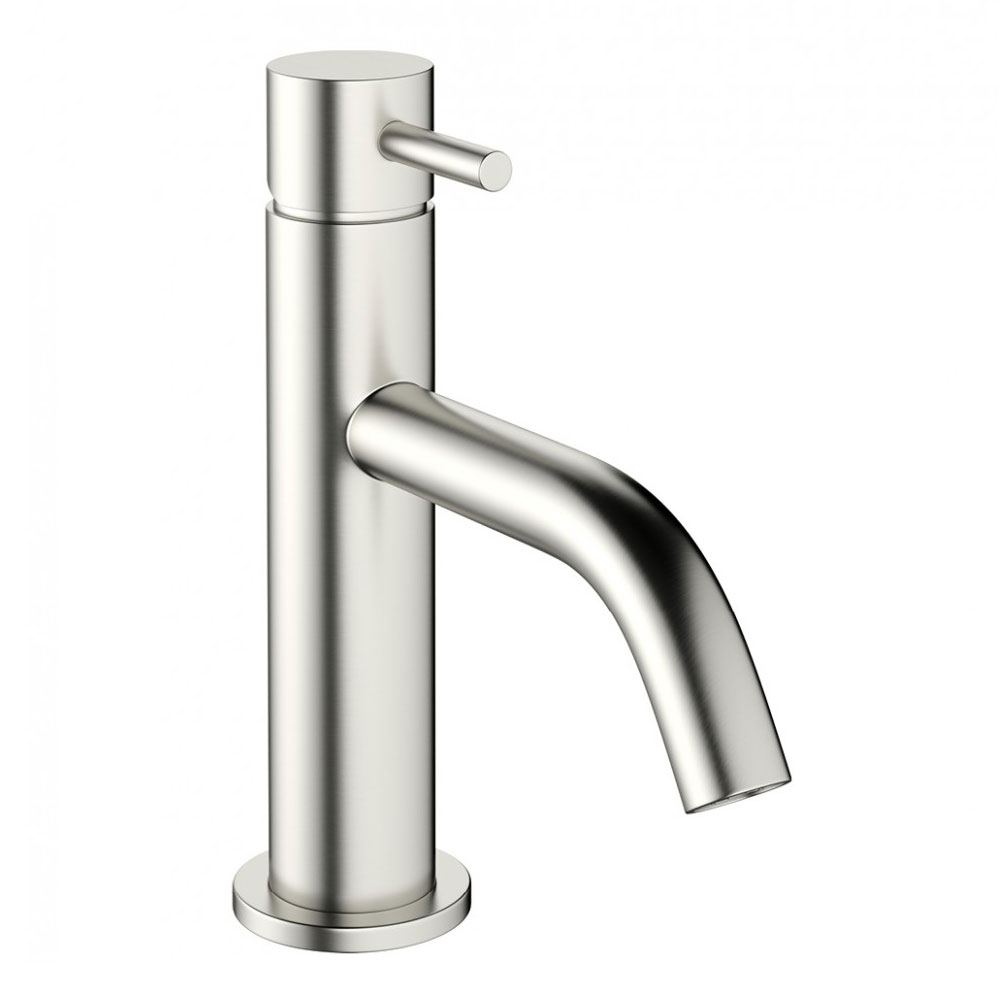 Crosswater - Mike Pro Monobloc Basin Mixer - Brushed Stainless Steel - PRO110DNV profile large image view 1