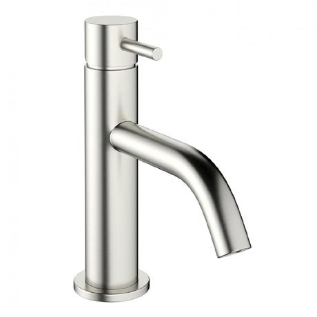 Crosswater - Mike Pro Monobloc Basin Mixer - Brushed Stainless Steel - PRO110DNV