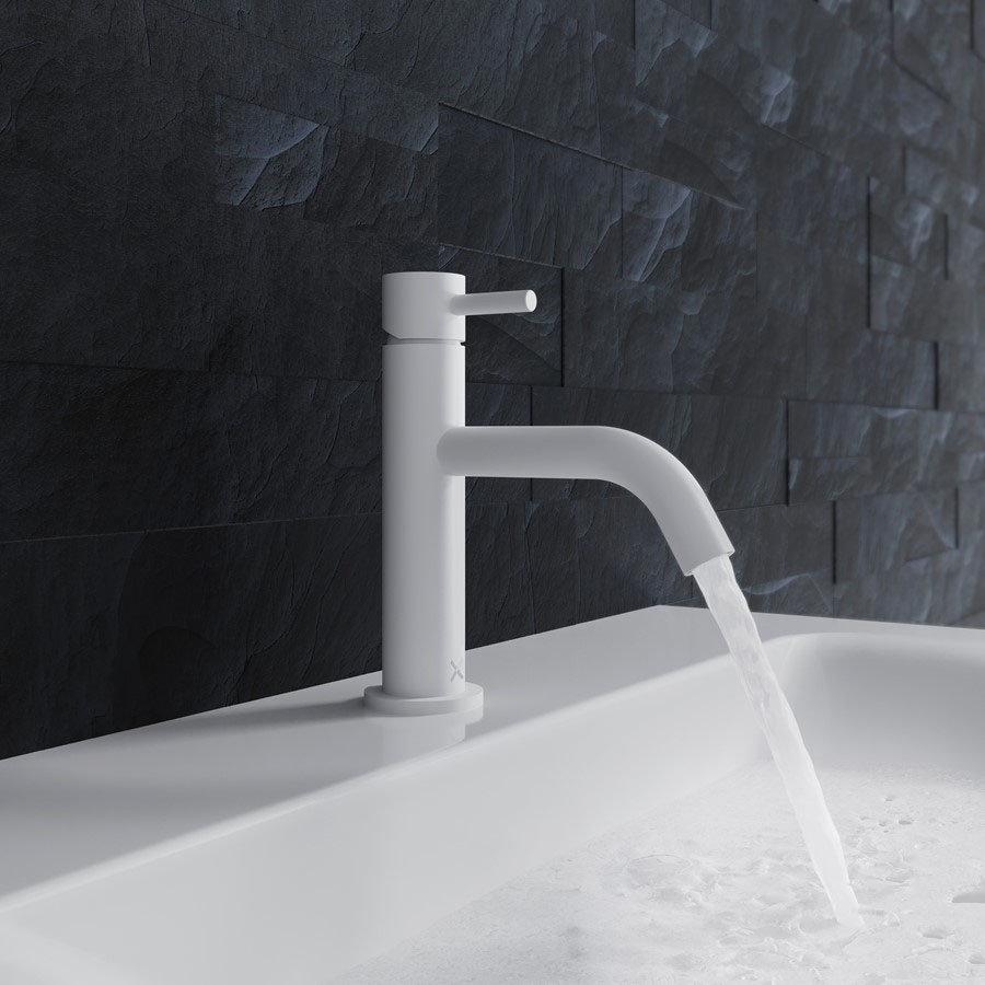 Crosswater MPRO Monobloc Basin Mixer - Matt White - PRO110DNW+