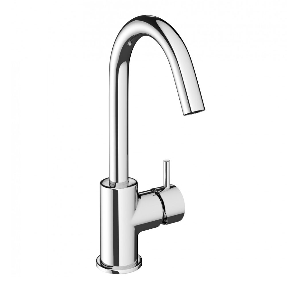 Crosswater - Mike Pro Side Lever Monobloc Basin Mixer - Chrome - PRO111DNC Large Image