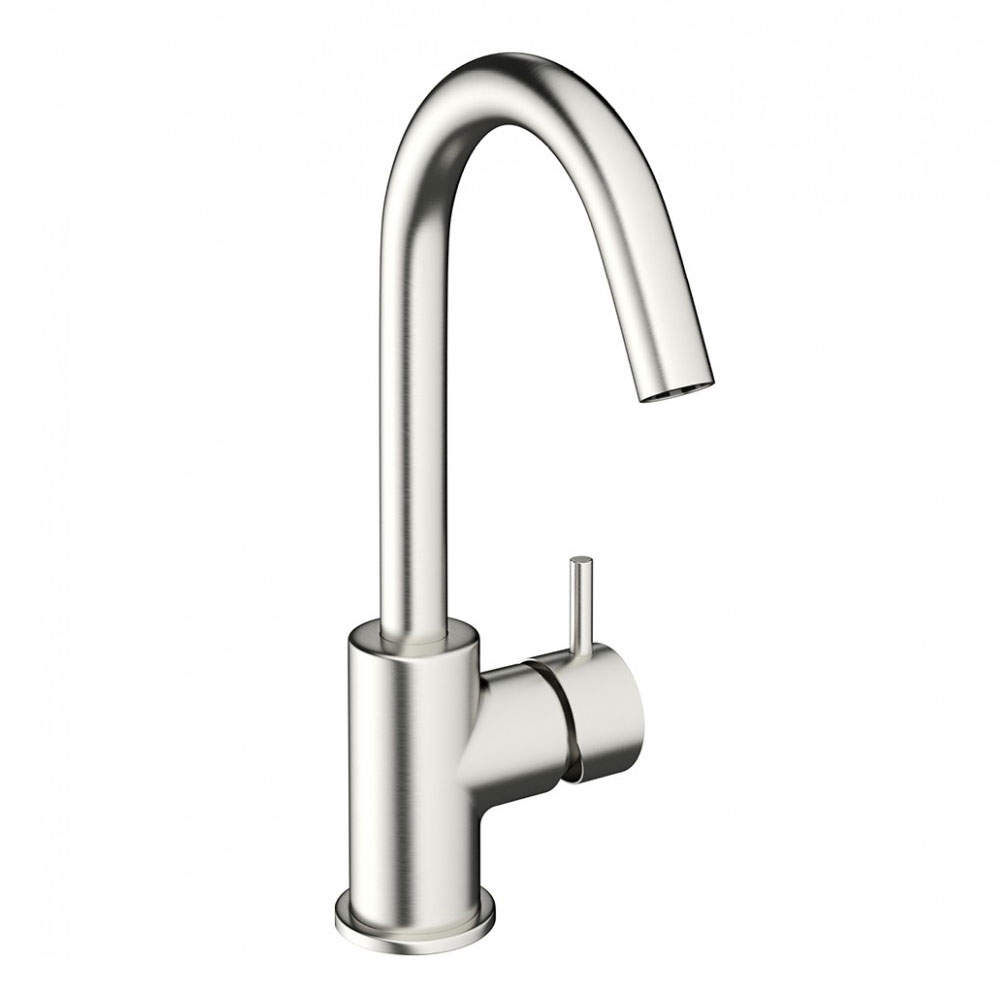 Crosswater - Mike Pro Side Lever Monobloc Basin Mixer - Brushed Stainless Steel - PRO111DNV Large Image