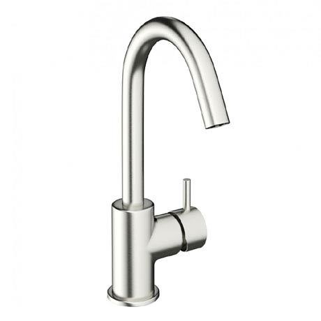 Crosswater - Mike Pro Side Lever Monobloc Basin Mixer - Brushed Stainless Steel - PRO111DNV