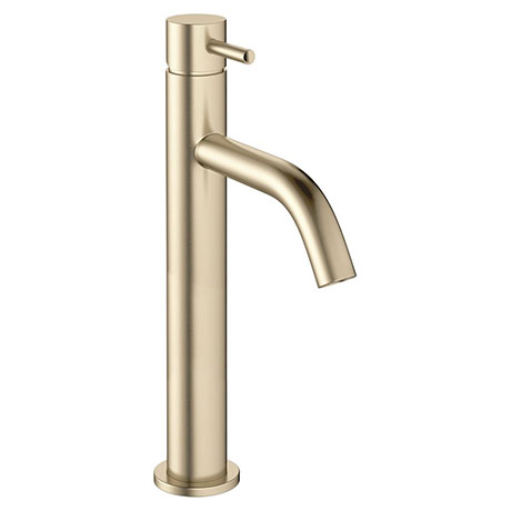 Crosswater MPRO Tall Monobloc Basin Mixer - Brushed Brass - PRO112DNF