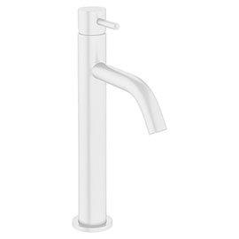 Crosswater MPRO Tall Monobloc Basin Mixer - Matt White - PRO112DNW+