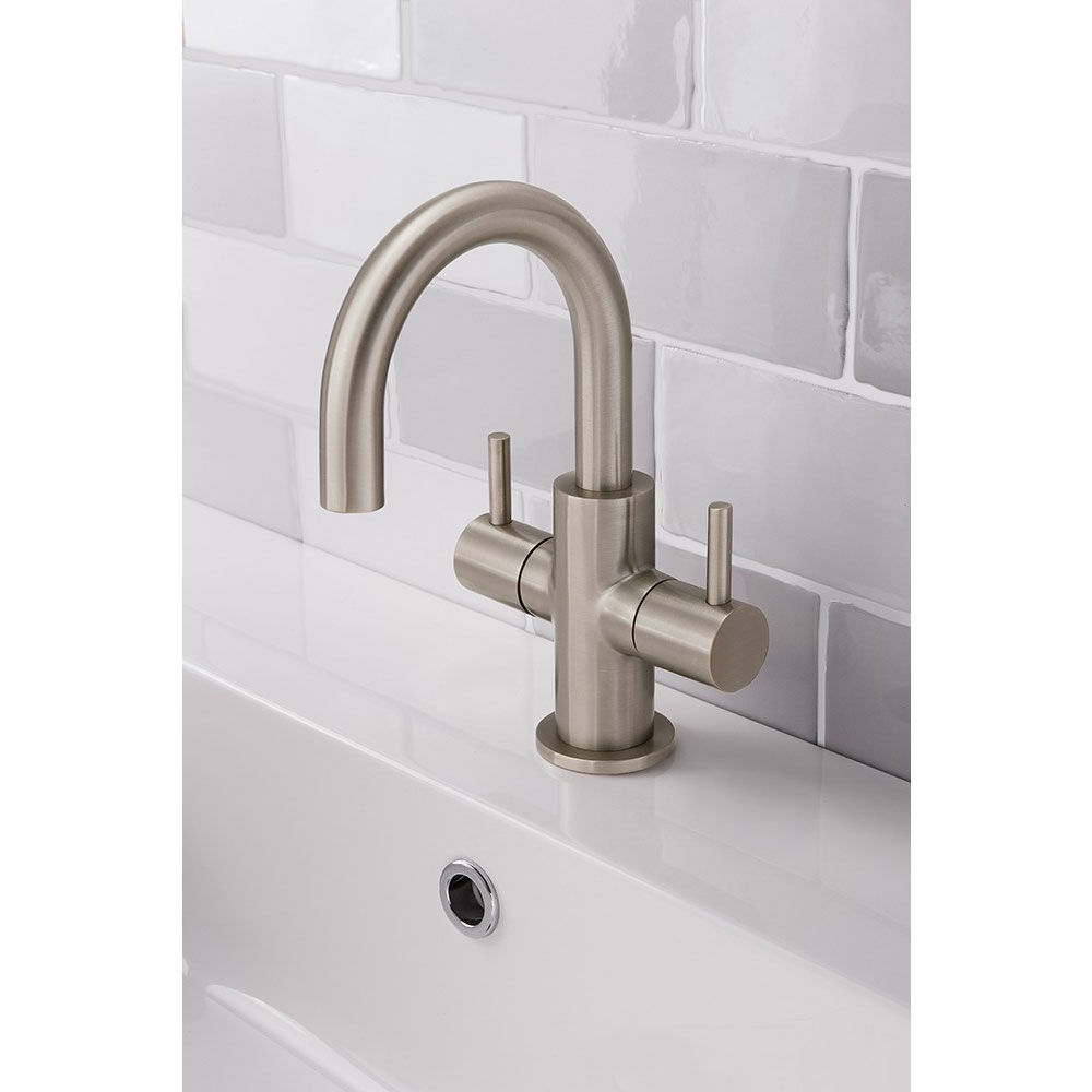 Crosswater - Mike Pro Monobloc Basin Mixer - Brushed Stainless Steel - PRO116DNV Profile Large Image
