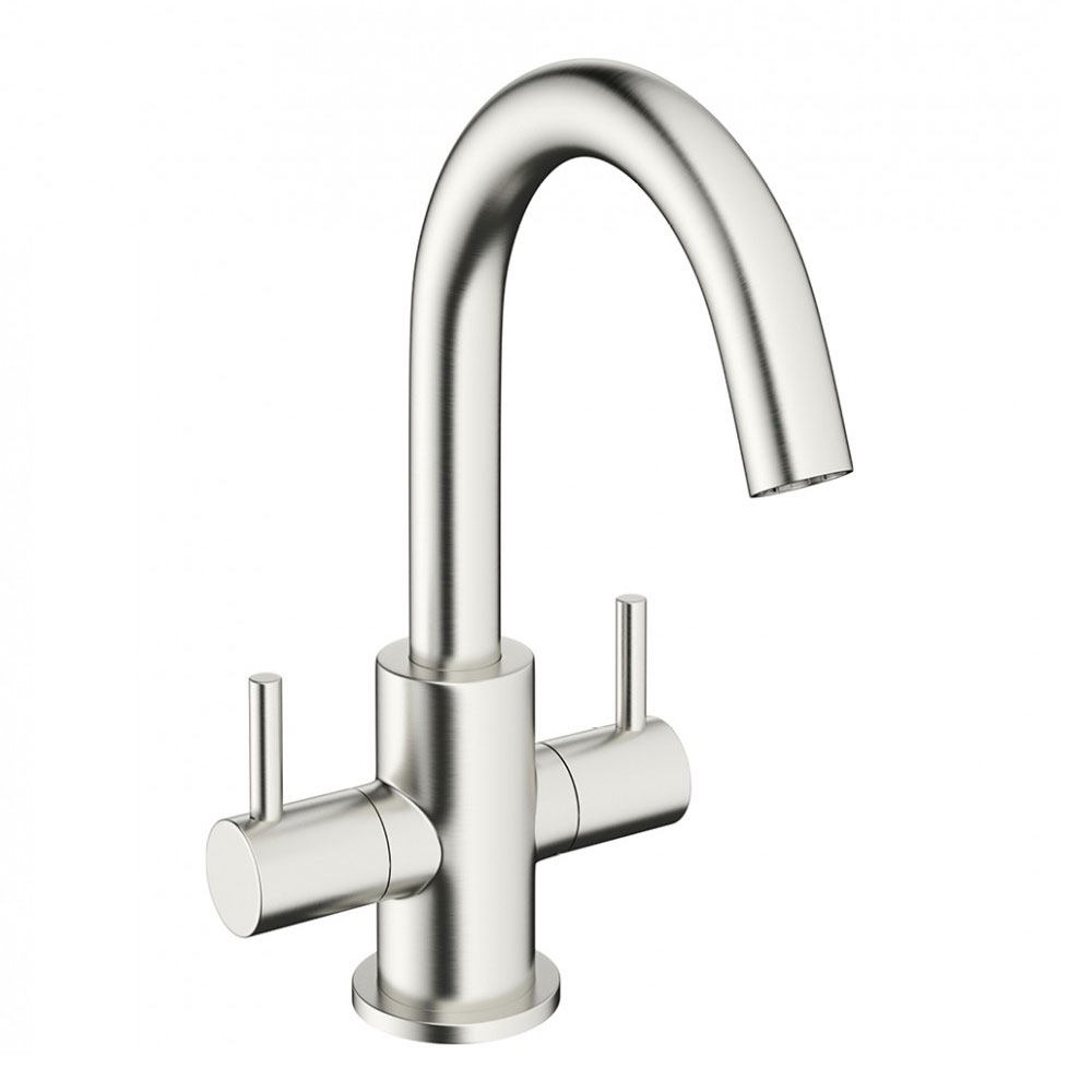 Crosswater - Mike Pro Monobloc Basin Mixer - Brushed Stainless Steel - PRO116DNV Large Image