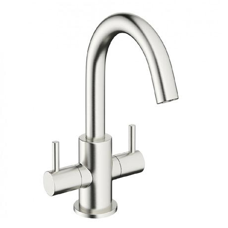 Crosswater - Mike Pro Monobloc Basin Mixer - Brushed Stainless Steel - PRO116DNV