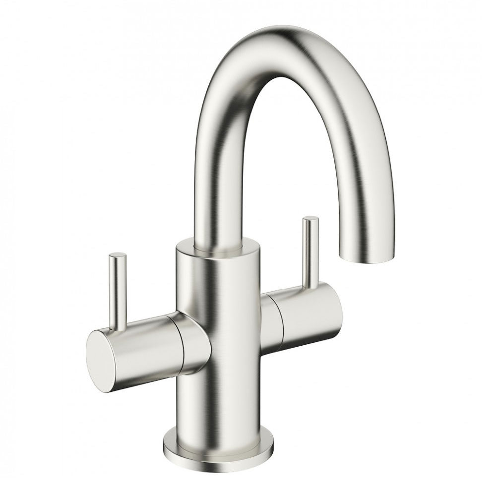 Crosswater - Mike Pro Mini Monobloc Basin Mixer - Brushed Stainless Steel - PRO118DNV Large Image