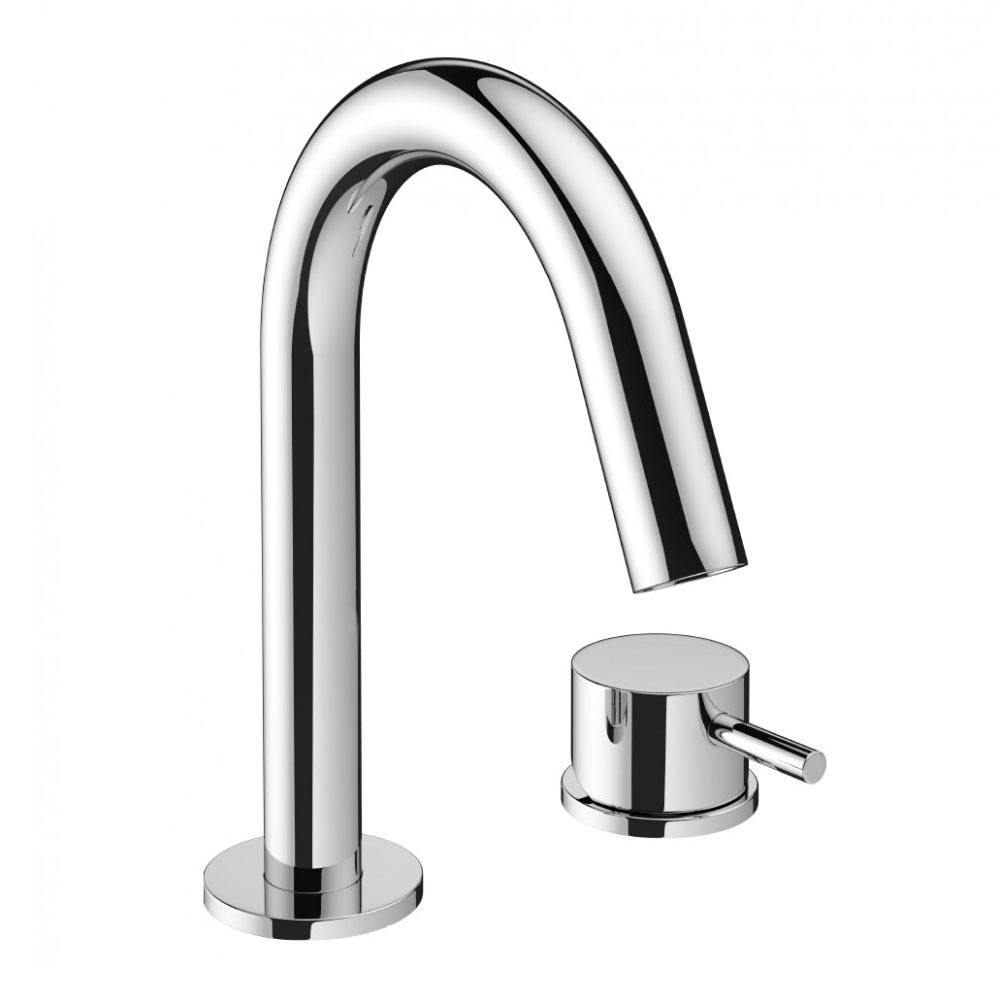 Crosswater - Mike Pro Deck Mounted 2 Hole Set Basin Mixer - Chrome - PRO125DNC profile large image view 1