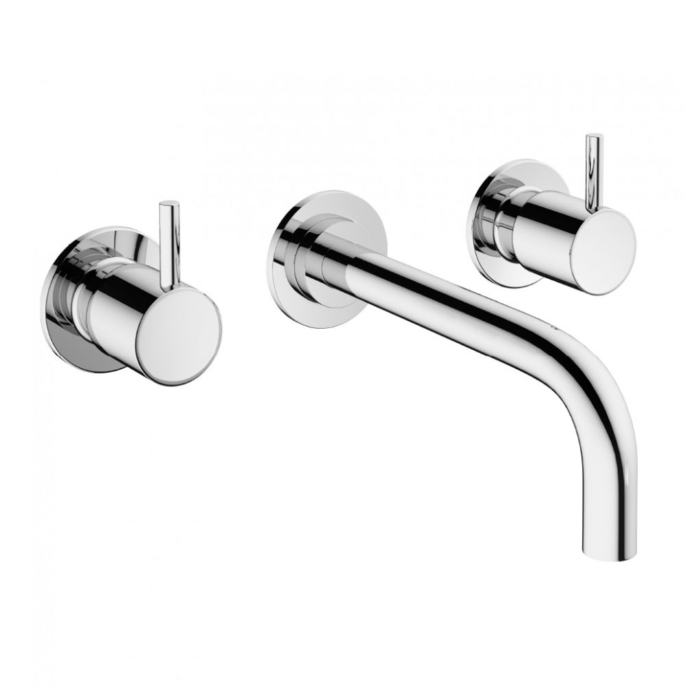Crosswater - Mike Pro Wall Mounted 3 Hole Set Basin Mixer - Chrome - PRO130WNC profile large image view 1