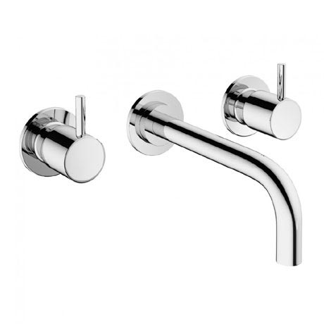 Crosswater - Mike Pro Wall Mounted 3 Hole Set Basin Mixer - Chrome - PRO130WNC
