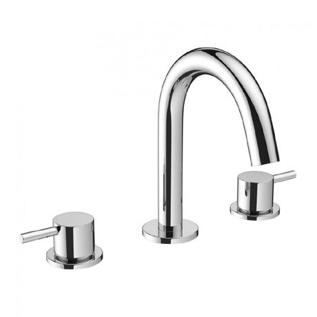 Crosswater - Mike Pro Deck Mounted 3 Hole Set Basin Mixer - Chrome - PRO135DNC