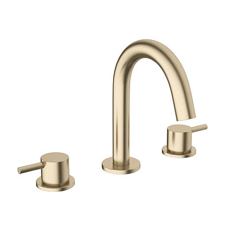 Crosswater MPRO Deck Mounted 3 Hole Set Basin Mixer - Brushed Brass - PRO135DNF