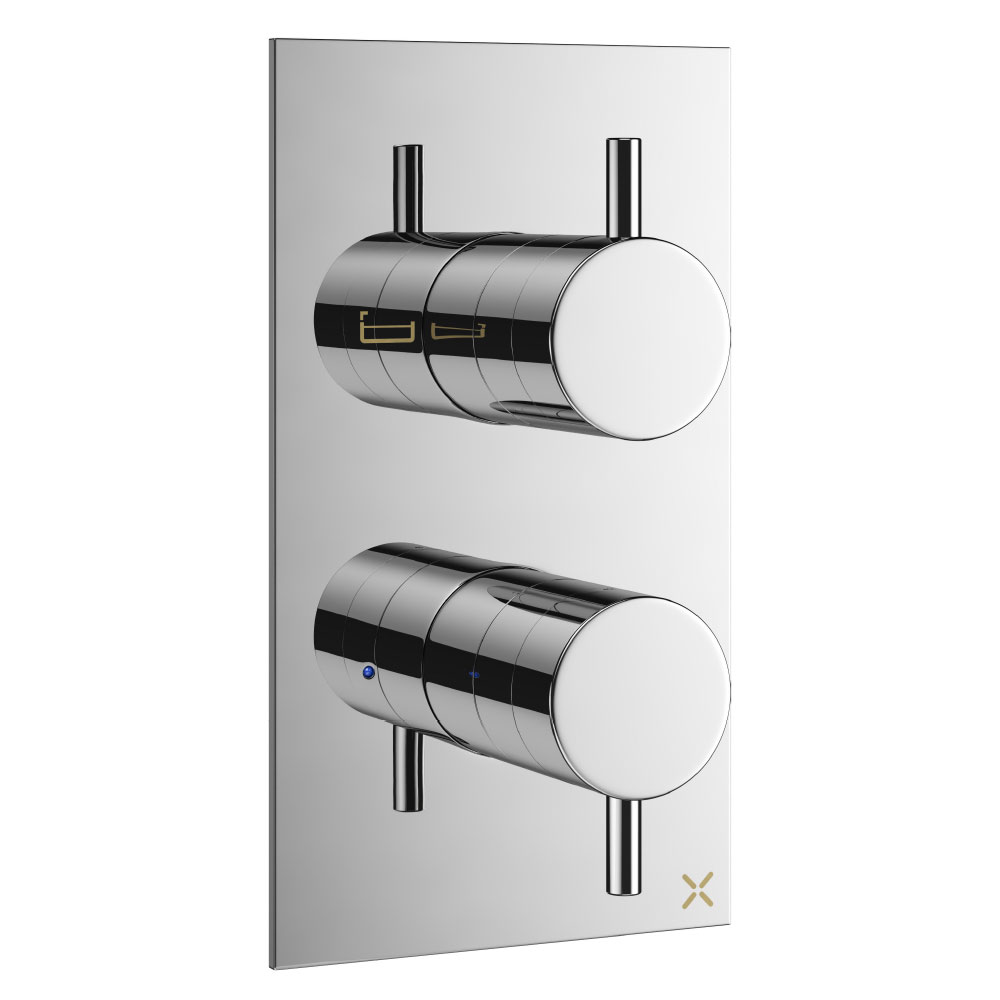 Crosswater - Mike Pro Thermostatic Bath Shower Valve - Chrome - PRO1500RC Large Image