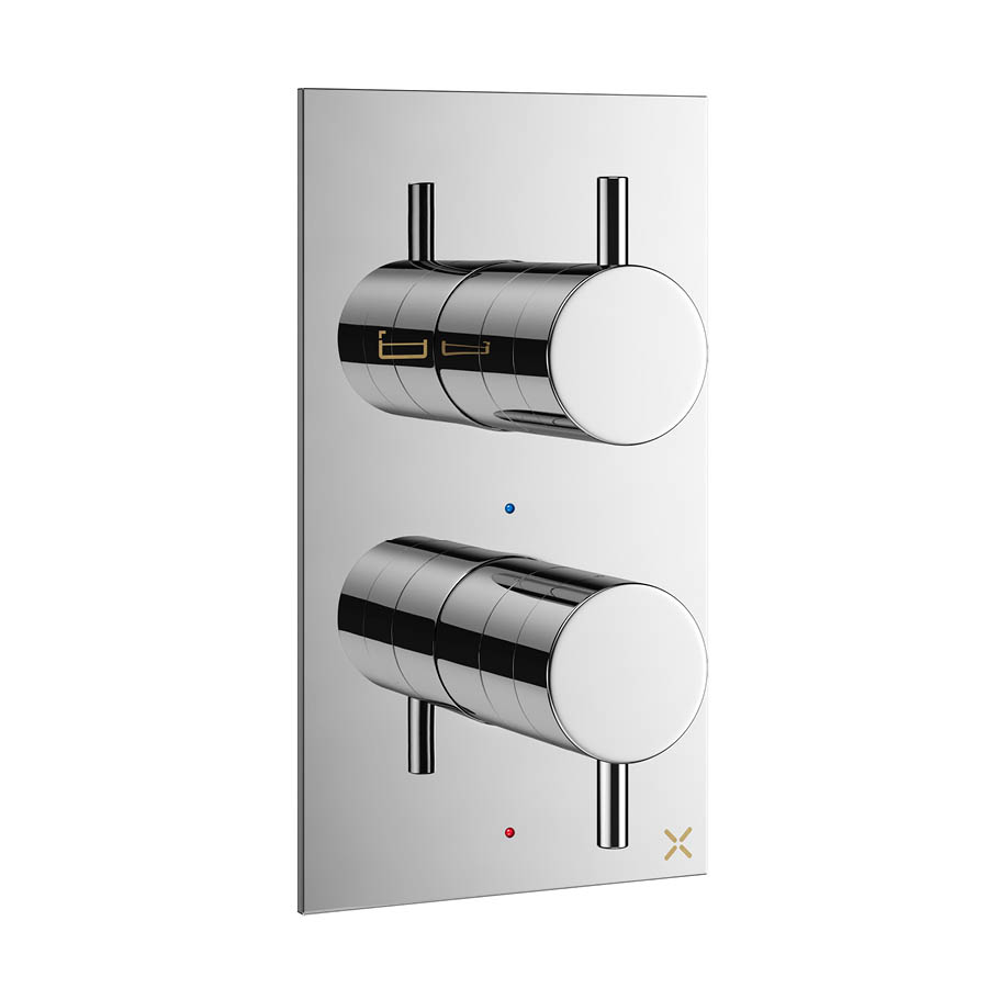 Crosswater MPRO Thermostatic Bath Shower Valve - Chrome - PRO1500RC