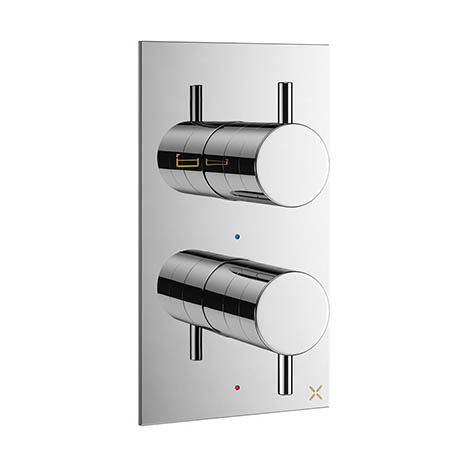 Crosswater - Mike Pro Thermostatic Bath Shower Valve - Chrome - PRO1500RC