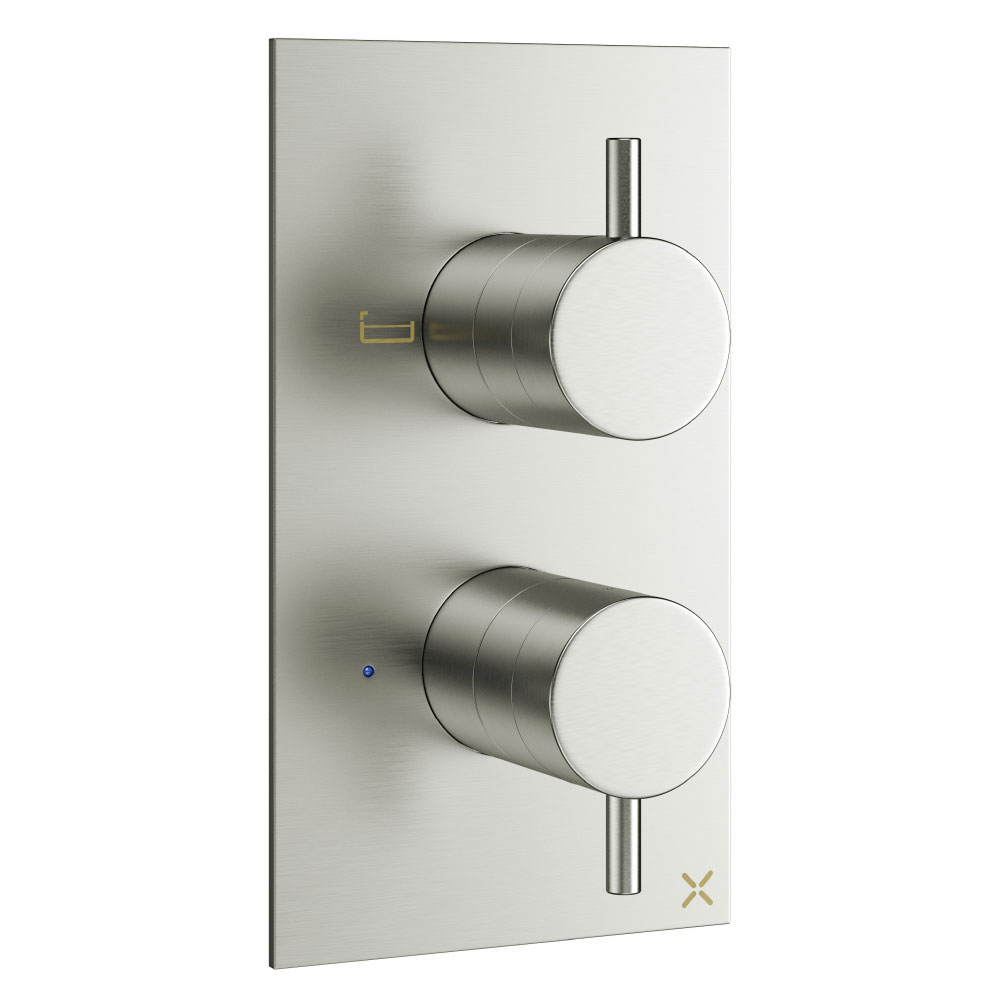 Crosswater - Mike Pro Thermostatic Bath Shower Valve - Brushed Stainless Steel - PRO1500RV profile large image view 1