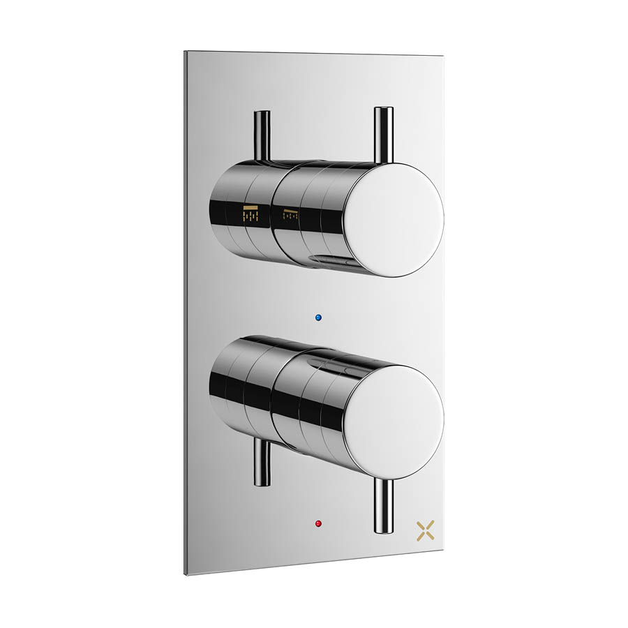 Crosswater MPRO Thermostatic Shower Valve with 2-Way Diverter - Chrome - PRO1510RC