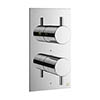 Crosswater MPRO Thermostatic Shower Valve with 2-Way Diverter - Chrome - PRO1510RC profile small image view 1