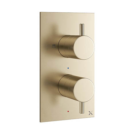 Crosswater MPRO Thermostatic Shower Valve with 2-Way Diverter - Brushed Brass - PRO1510RF+