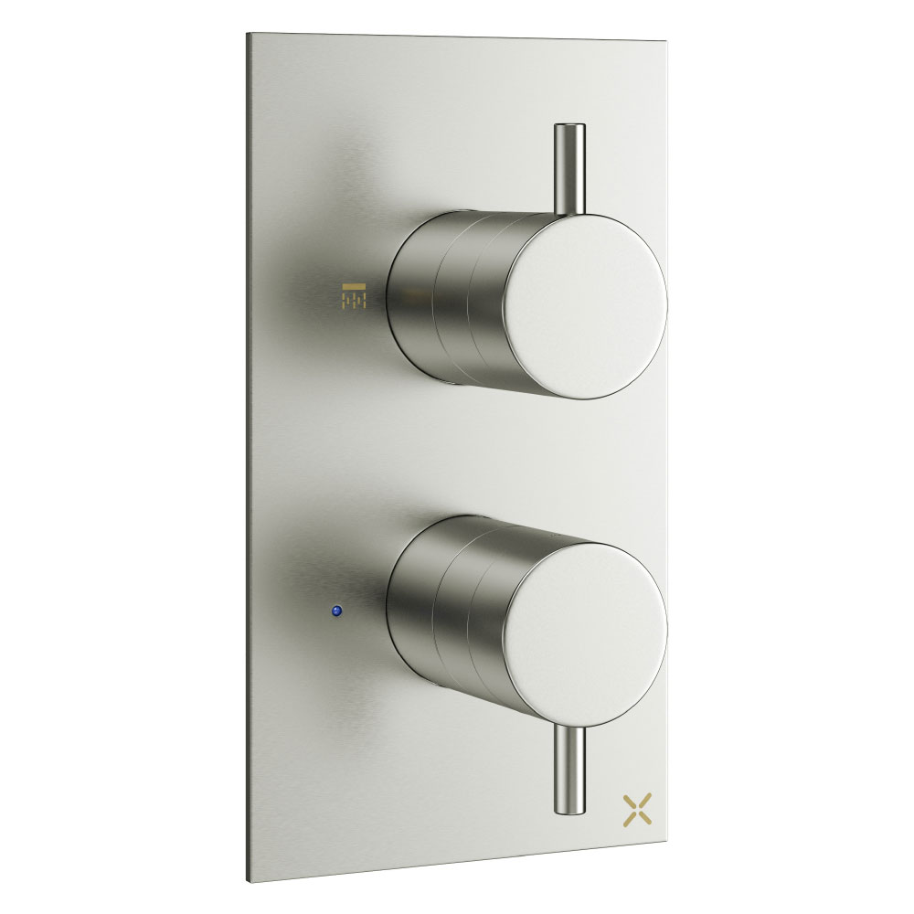 Crosswater - Mike Pro Thermostatic Shower Valve - Brushed Stainless Steel - PRO1510RV profile large image view 1