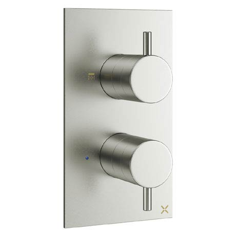 Crosswater - Mike Pro Thermostatic Shower Valve - Brushed Stainless Steel - PRO1510RV