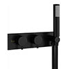 Crosswater MPRO Thermostatic Shower Valve with Handset - Matt Black - PRO1701RM+ profile small image view 1