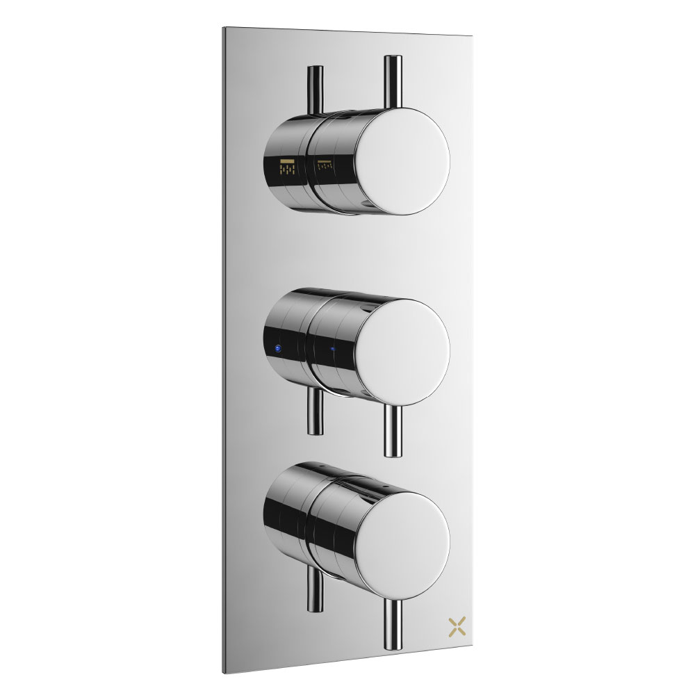 Crosswater - Mike Pro Triple Concealed Thermostatic Shower Valve - Chrome - PRO2000RC profile large image view 1