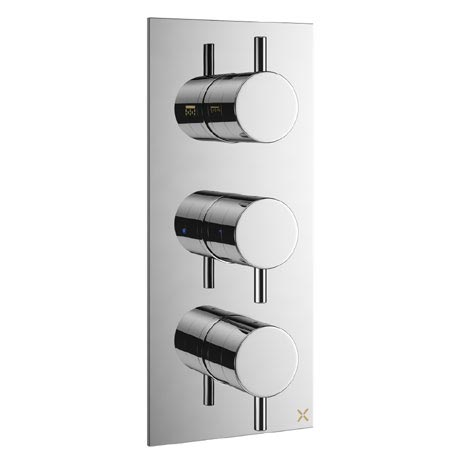 Crosswater - Mike Pro Triple Concealed Thermostatic Shower Valve - Chrome - PRO2000RC
